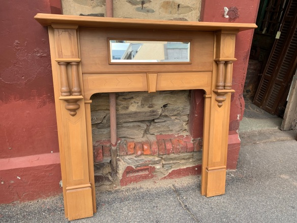 Very clean Kauri Pine mantle piece , top shelf is 1445 mm , height is 1405 mm , opening is 910 mm wide x 930 mm high , $ 645 ON HOLD salvaged, recycled, demolition, reproduction, restoration, renovation,collectable, secondhand, used , original, old, reclaimed, heritage, antique, victorian, art nouveau edwardian, georgian, art deco