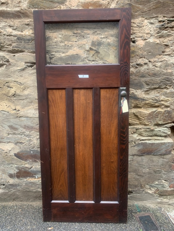 Bungalow door with glass top, 847 mm x 2020 mm , $220 , Door 3 salvaged, recycled, demolition, reproduction, restoration, renovation,collectable, secondhand, used , original, old, reclaimed, heritage, antique, victorian, art nouveau edwardian, georgian, art deco