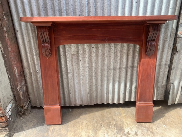 * Victorian style polished pine mantle , top shelf is 1490 mm x 235 mm , height is 1215 mm , opening is 920mm wide x 965 mm high , $ 440salvaged, recycled, demolition, reproduction, restoration, renovation,collectable, secondhand, used , original, old, reclaimed, heritage, antique, victorian, art nouveau edwardian, georgian, art deco
