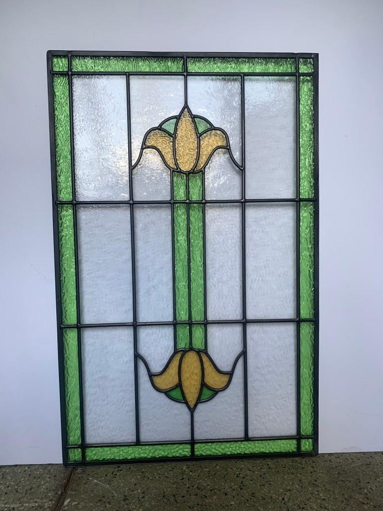 Leadlight panel , 798 mm x 512 mm , $ 220