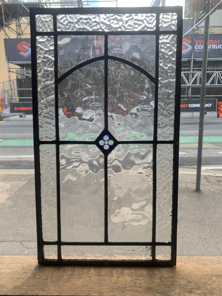 salvaged, recycled,Leadlight panel , 530 mm x 300 mm , $ 130 demolition, reproduction, restoration, renovation,collectable, secondhand, used , original, old, reclaimed, heritage, antique, victorian, art nouveau edwardian, georgian, art deco
