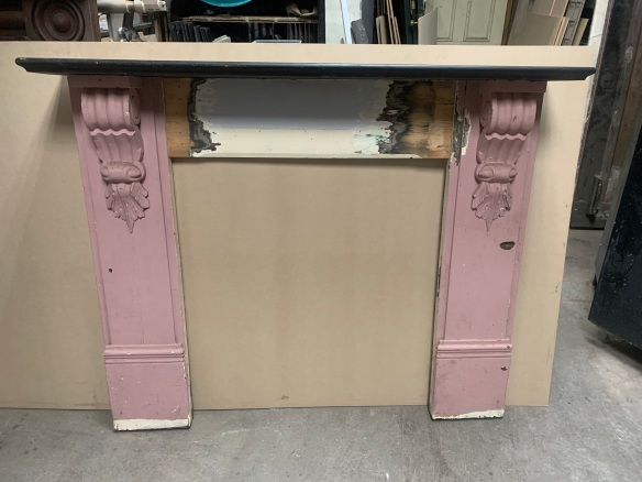 Victorian fireplace mantlepiece with corbels, painted, top shelf is 1425mm x 20mm , height is 1175mm, opening is 840mm wide x 905mm tall , $330 salvaged, recycled, demolition, reproduction, restoration, renovation,collectable, secondhand, used , original, old, reclaimed, heritage, antique, victorian, art nouveau edwardian, georgian, art deco