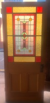 Large door with impressive leadlight panel , 850 mm x 2045 mm , $880 salvaged, recycled, demolition, reproduction, restoration, renovation,collectable, secondhand, used , original, old, reclaimed, heritage, antique, victorian, art nouveau edwardian, georgian, art deco