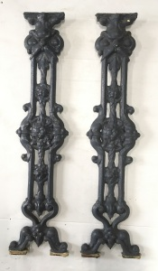 Large quantity of original Victorian cast iron verandah balustrade panels, height 798mm x width 190mm, 84 x available