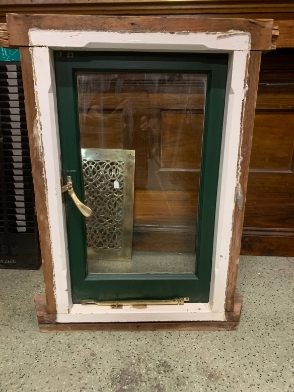 Small original Bungalow casement window , 570 mm wide x 870 mm tall , $285 salvaged, recycled, demolition, reproduction, restoration, home renovation secondhand, used , original, old, reclaimed, heritage, antique, victorian, art nouveau edwardian, georgian, art deco