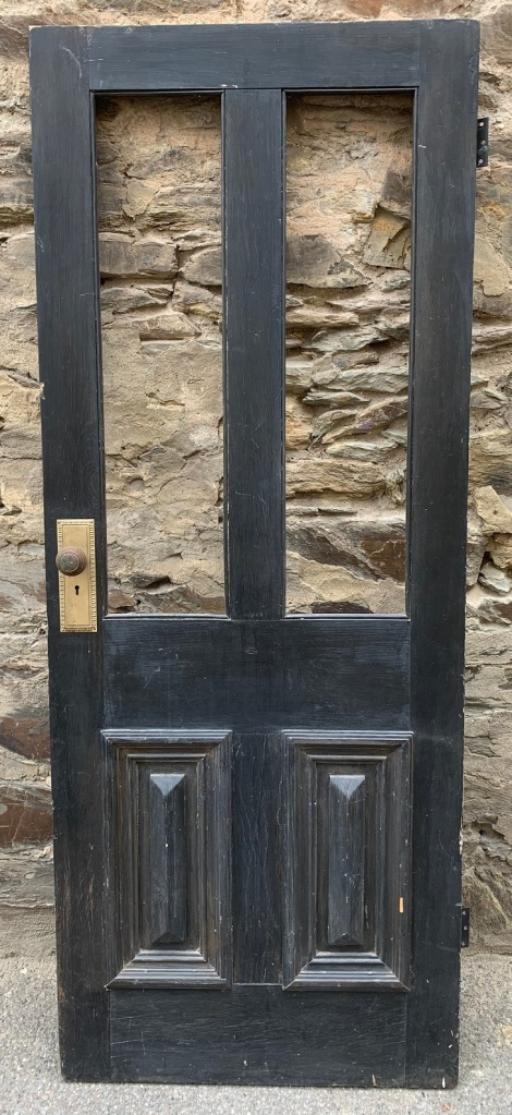 Front door ( no Glass ) with cricket bat panels , 2025 mm x 800 mm x 38 mm , $440 salvaged, recycled, demolition, reproduction, restoration, home renovation secondhand, used , original, old, reclaimed, heritage, antique, victorian, art nouveau edwardian, georgian, art deco