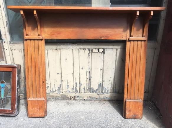 original Federation timber fireplace mantel, top shelf width 1523mm $200