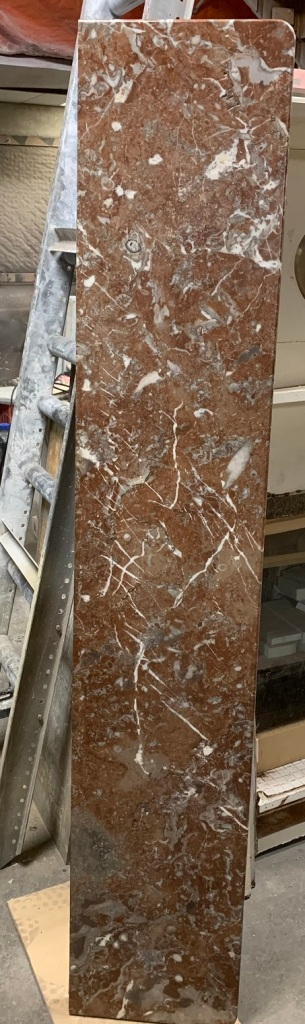 salvaged, recycled, demolition, reproduction, restoration, home renovation secondhand, used , original, old, reclaimed, heritage, antique, victorian, art nouveau edwardian, georgian, art decoImpressive Victorian Rouge Marble mantle piece, top shelf is 1790 mm x 335 mm , mantle height is 1250 mm , opening is 955 mm wide x 950 mm