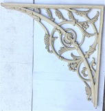 Extra large lacework corners for verandah, decorative spiral with foliage, width 855 x 880mm, 8 available, $245 each salvaged, recycled, demolition, reproduction, restoration, home renovation secondhand, used , original, old, reclaimed, heritage, antique, victorian, art nouveau edwardian, georgian, art deco