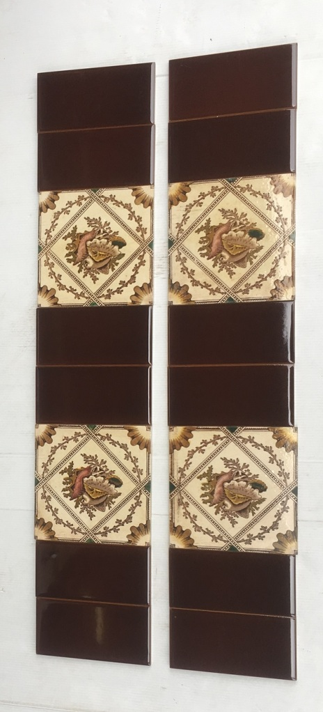 151 x 151mm, two panel fireplace set, $245 OTB 58 salvaged, recycled, demolition, reproduction, restoration, home renovation secondhand, used , original, old, reclaimed, heritage, antique, victorian, art nouveau edwardian, georgian, art deco