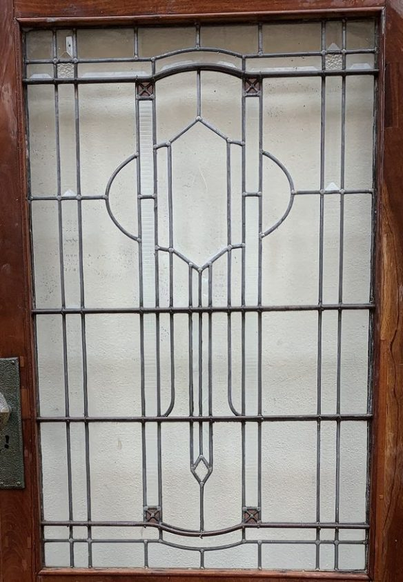 Victorian door with leadlight panel, all clear with bevel cut and textured glass, 910 mm x 2010 mm , $545 salvaged, recycled, demolition, reproduction, restoration, home renovation secondhand, used , original, old, reclaimed, heritage, antique, victorian, art nouveau edwardian, georgian, art decoDoor with leadlight panel , 910 mm x 2010 mm , $ 545