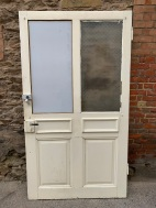 salvaged, recycled, demolition, reproduction, restoration, home renovation secondhand, used , original, old, reclaimed, heritage, antique, victorian, art nouveau edwardian, georgian, art decoVery large pair of doors , originally from Switzerland , one white pane and one etched pane to each door, 2112 mm x 1178 mm , $ 545 each door