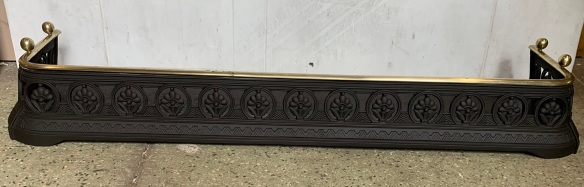 salvaged, vintage recycled, demolition, reproduction, restoration, home renovation secondhand, used , original, old, reclaimed, heritage, antique, victorian, art nouveau edwardian, georgian, art decoNice small fender with brass rail , 1020 mm x 320 mm , $ 265