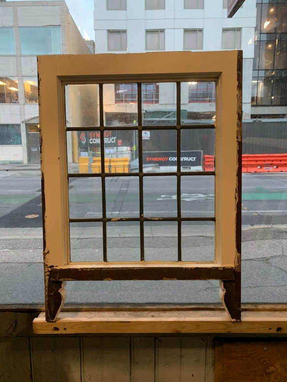 salvaged, vintage recycled, demolition, reproduction, restoration, home renovation secondhand, used , original, old, reclaimed, heritage, antique, victorian, art nouveau edwardian, georgian, art decoSash window with leadlight , frame is 500 mm x 565 mm , 2 matching available , $ 75 each