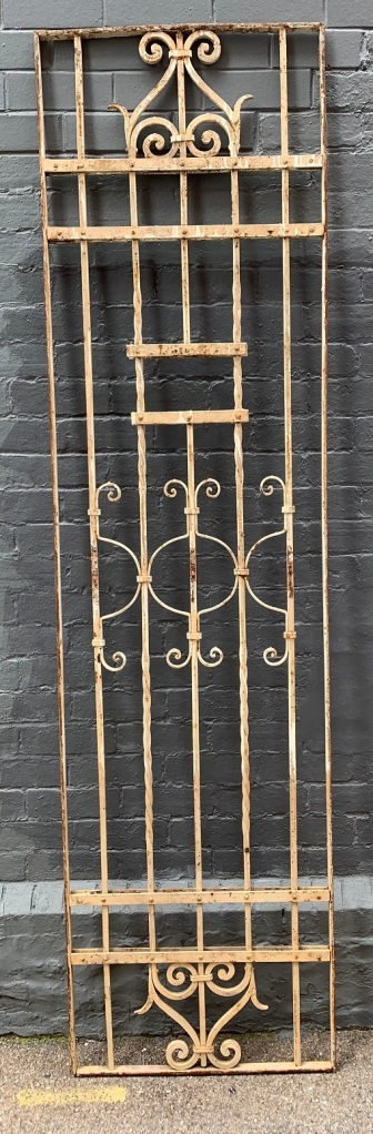 salvaged, vintage recycled, demolition, reproduction, restoration, home renovation secondhand, used , original, old, reclaimed, heritage, antique, victorian, art nouveau edwardian, georgian, art decoHeavy iron decorative panel , 2355 mm x 625 mm , $ 360