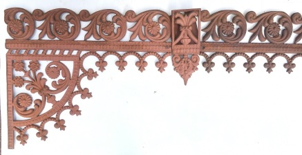 Original Victorian verandah lacework corners and valance panels, scroll pattern, cast iron, Corners (height 540 x width 637mm) $120 each; valance (height 235 x approx 8 metres in length) $100/m, centre drop for valance $50 each. salvaged, vintage recycled, demolition, reproduction, restoration, home renovation secondhand, used , original, old, reclaimed, heritage, antique, victorian, art nouveau edwardian, georgian, art decoDetail of Deco style lettering to pub door