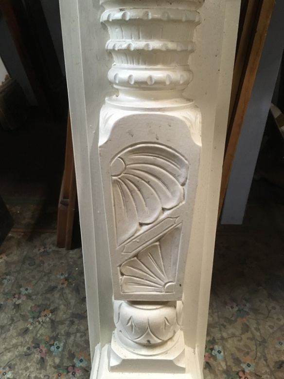 salvaged, vintage recycled, demolition, reproduction, restoration, home renovation secondhand, used , original, old, reclaimed, heritage, antique, victorian, art nouveau edwardian, georgian, art decoDetail of carving to edwardian mantle with serpentine top