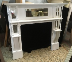 salvaged, vintage recycled, demolition, reproduction, restoration, home renovation secondhand, used , original, old, reclaimed, heritage, antique, victorian, art nouveau edwardian, georgian, art decoDouble shelf Edwardian mantle , top shelf is 1520 mm x 245 mm , height is 1395 mm , opening is 910 mm wide x 915 mm tall , $ 440