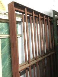 Detail of steel security / fence panels, 2 available $350 each 1935w x 1960h