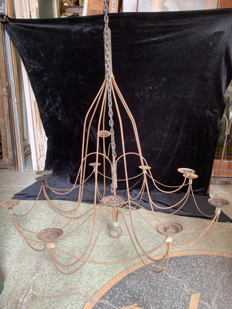 salvaged, vintage recycled, demolition, reproduction, restoration, home renovation secondhand, used , original, old, reclaimed, heritage, antique, victorian, art nouveau edwardian, georgian, art decoVery large Chandelier/Candelabra , 1200 mm diamater x 1400 mm drop , plus chain , $ 585