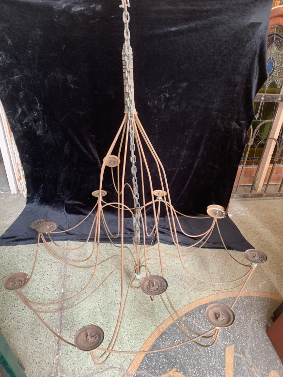 Very large Chandelier/Candelabra , 1200 mm diamater x 1400 mm drop , plus chain , $ 585