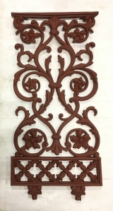 Original Victorian cast iron balustrade panels as in adjacent picture, 8 available, width 442 x height 817mm, $185 as is (require grit blasting) with the original intermediate balustrade post. 9 posts available (plus one which may be repaired) $65 as is salvaged, vintage recycled, demolition, reproduction, restoration, home renovation secondhand, used , original, old, reclaimed, heritage, antique, victorian, art nouveau edwardian, georgian, art decoDetail of Deco style lettering to pub door