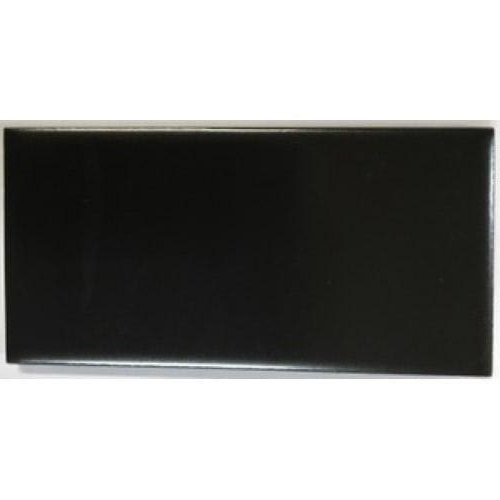 Smith Gloss Black reproduction 3 x 6 inch / 152 x 76 x 9mm hearth, fireplace or washstand tiles. $4.95 each tile.