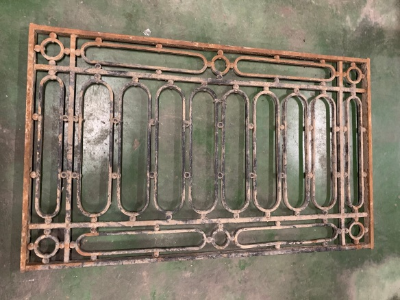 salvaged, vintage 1900, 1910s, 1920s 1930 1940s recycled demolition reproduction, restoration, home renovation secondhand, used , original,old,reclaimed,heritage,antique, victorian,art nouveau edwardian, georgian,art decoHeavy iron panel , 1355 mm x 812 mm , $ 345