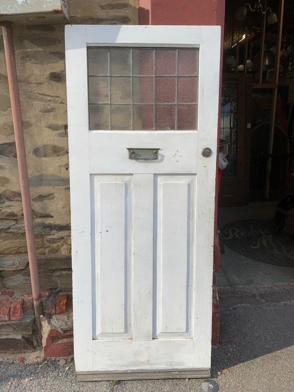 Bungalow door with leadlight , 850 mm 2050 mm , $ 440
