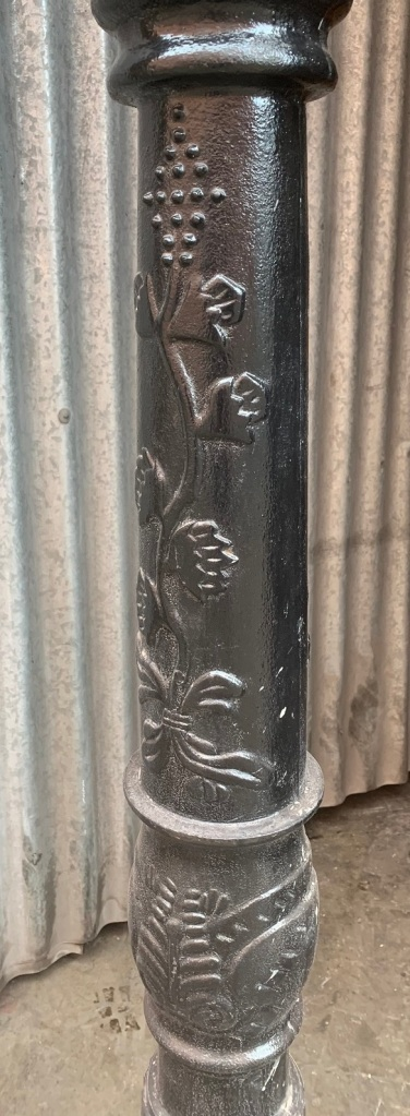 vintage salvaged 1800s 1900 1910 1920 1930 1940 1950 recycled demolition reproduction, restoration, renovation secondhand, used , original,old,reclaimed,heritage,antique, victorian,art nouveau edwardian, georgian,art decoDetail on light pole