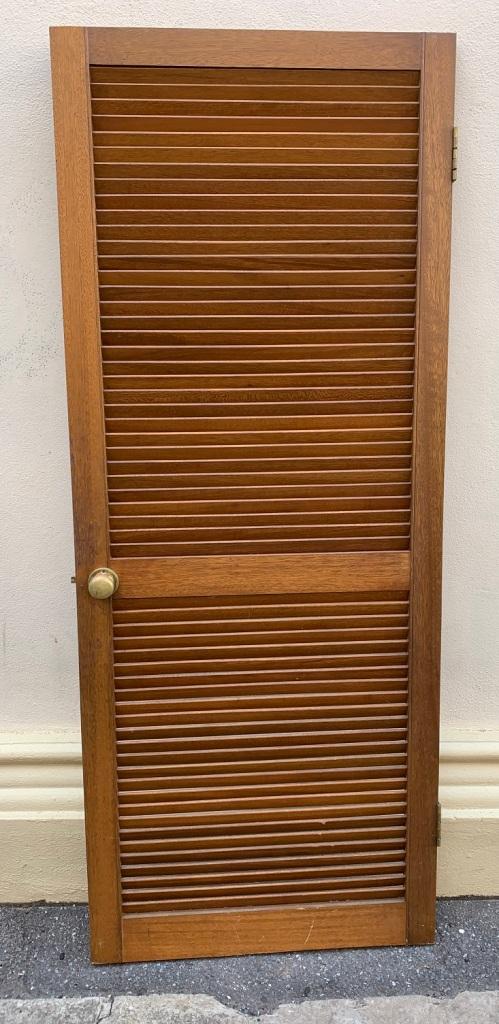 Single louvre door ( Meranti ) ,805 mm x 2005 mm , $ 220
