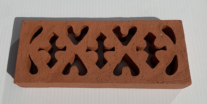 Vent No.1 external terracotta single brick, Victorian style, 211x85x33mm $33 salvaged, recycled, demolition, reproduction, restoration, home renovation secondhand, used , original, old, reclaimed, heritage, antique, victorian, art nouveau edwardian, georgian, art deco