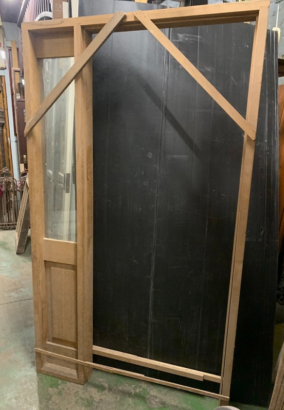 Brand new door frame (no door), western red cedar, side window panel, 1205 x 2100mm, $150salvaged, recycled, demolition, reproduction, restoration, home renovation secondhand, used , original, old, reclaimed, heritage, antique, victorian, art nouveau edwardian, georgian, art deco