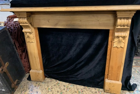 vintage salvaged 1800s 1900 1910 1920 1930 1940 1950 recycled demolition reproduction, restoration, renovation secondhand, used , original,old,reclaimed,heritage,antique, victorian,art nouveau edwardian, georgian,art decoBaltic pine Victorian mantle with corbells, top shelf is 1585 mm x 220 mm , height 1145 mm , opening is 925 mm wide x 890 mm tall , $ 325