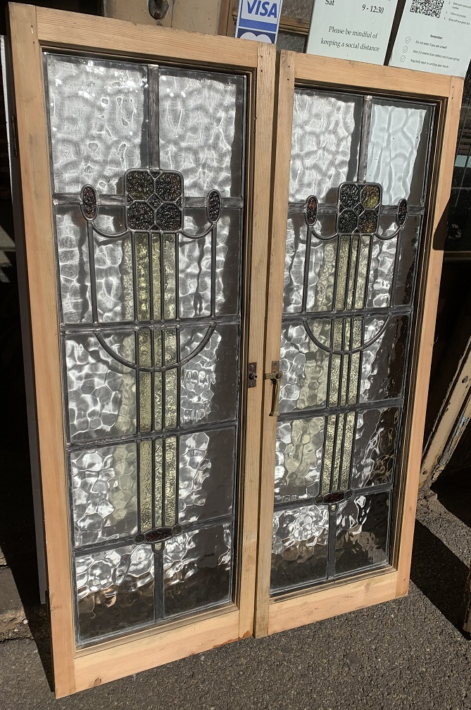 Arts and Crafts / Macintosh style leadlight windows, frame h 1290 x w 450mm, glass 1140 x 360mm, 2 available $440 each vintage salvaged 1800s 1900 1910 1920 1930 1940 1950 recycled demolition reproduction, restoration, renovation secondhand, used , original,old,reclaimed,heritage,antique, victorian,art nouveau edwardian, georgian,art decoSingle pendant light with white glass shade , 200 mm diameter x 1250 mm drop , 2 matching available , $ 145 each