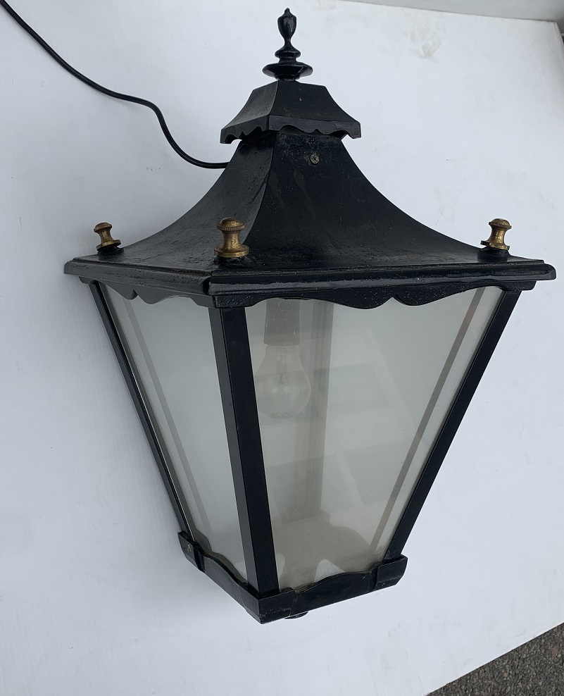 Large lamp post tops, 4 available, 35 x 35 x 60cm, $345 each Lamp post tops, 4 available