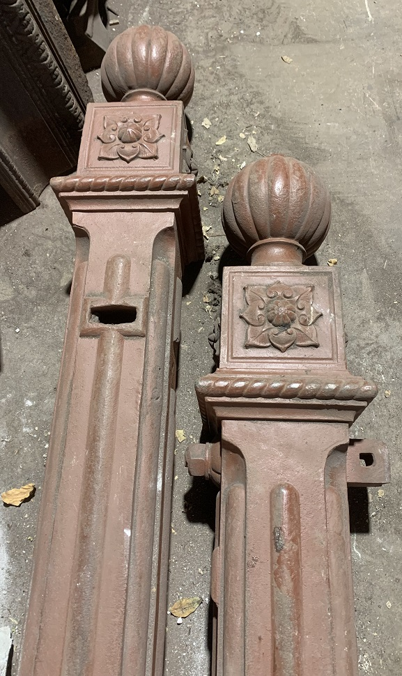 Heavy cast iron gate posts