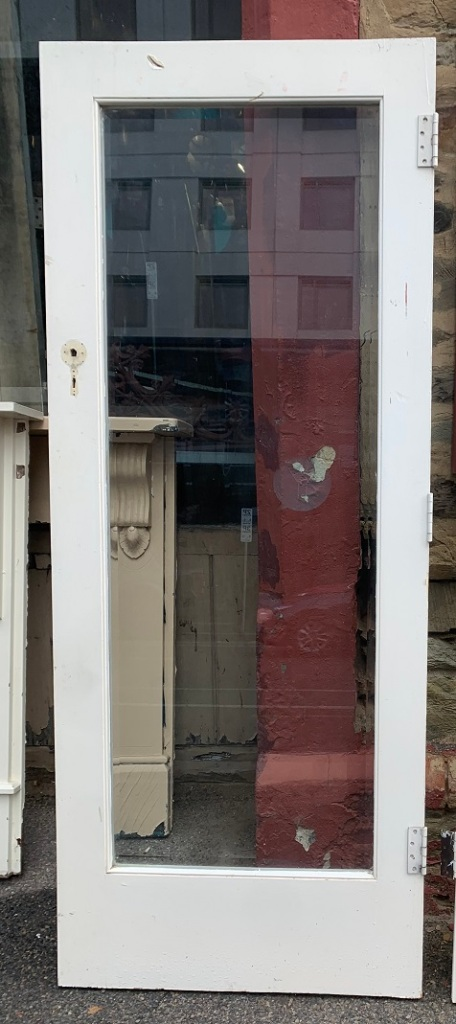 Single bevel glass plate door w 807 x 2010mm $330 May have French door pairsalvaged vintage recycled, demolition, reproduction, restoration, home renovation secondhand, used , original, old, reclaimed, heritage, antique, victorian, art nouveau edwardian georgian art deco