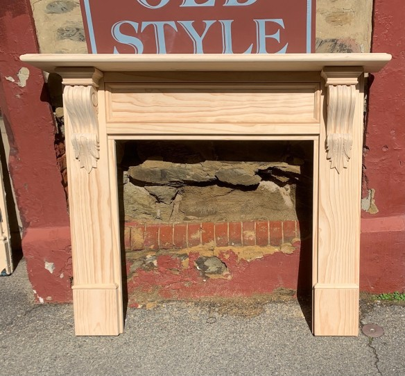 York mantel, solid timber, locally made, Victorian scrolls / corbels. New Zealand pine, heavy timber, excellent base for painting or polishing. Top shelf width 1480mm Outer leg width 1345mm Height 1200mm Opening size 905 x 905mm $950 salvaged vintage recycled, demolition, reproduction, restoration, home renovation secondhand, used , original, old, reclaimed, heritage, antique, victorian, art nouveau edwardian georgian art deco